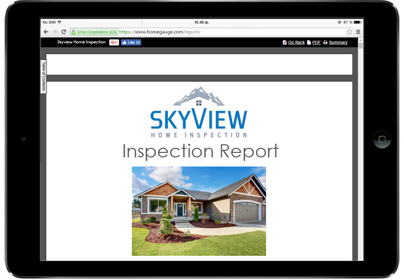 Colorado Spring Home Inspection Skyview Home Gauge