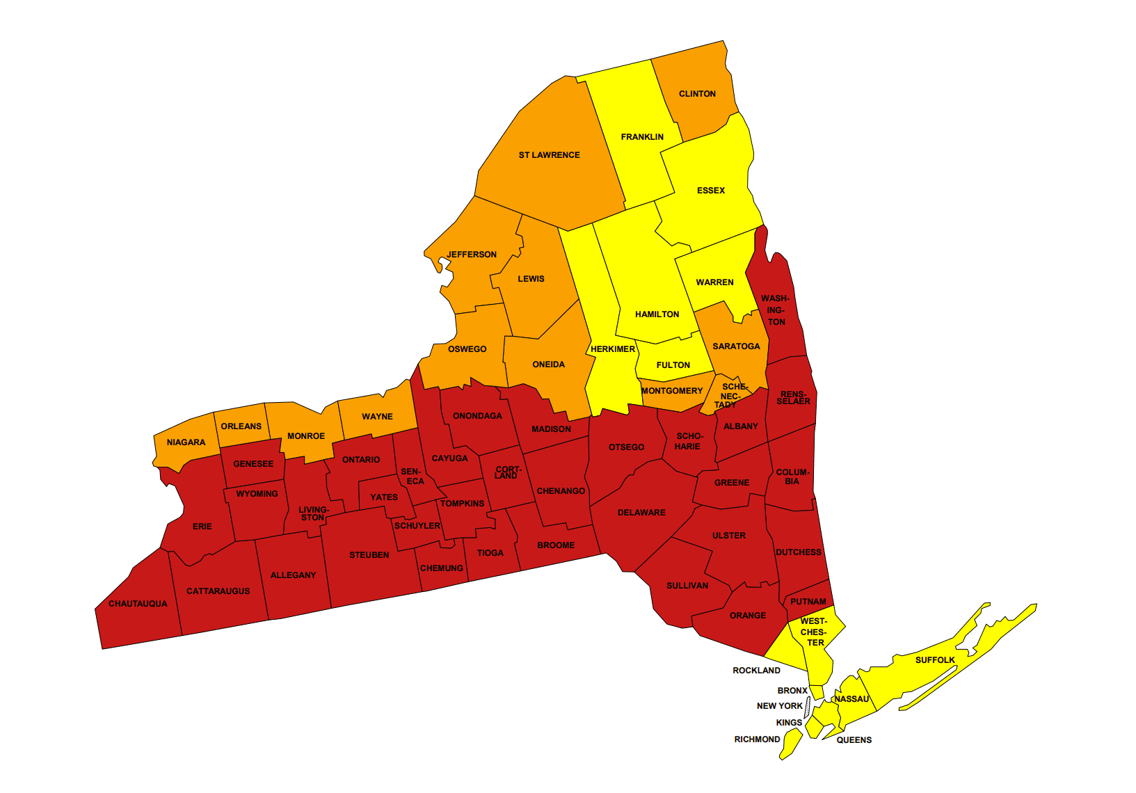epa radon map new york
