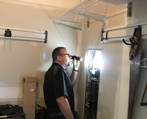 electric service panel home inspection